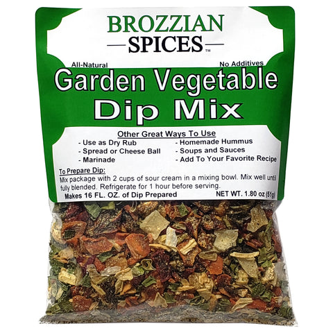 Garden Vegetable Dip Mix - Brozzian Spices
