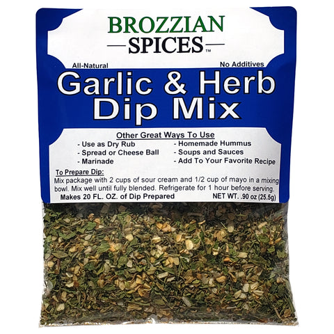 Garlic & Herb Dip Mix - Brozzian Spices