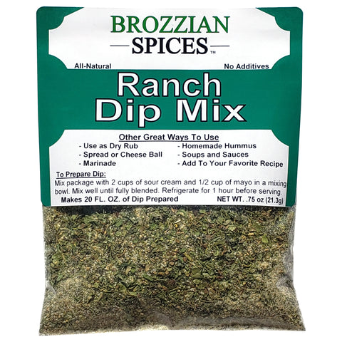 Ranch Dip Mix - Brozzian Spices