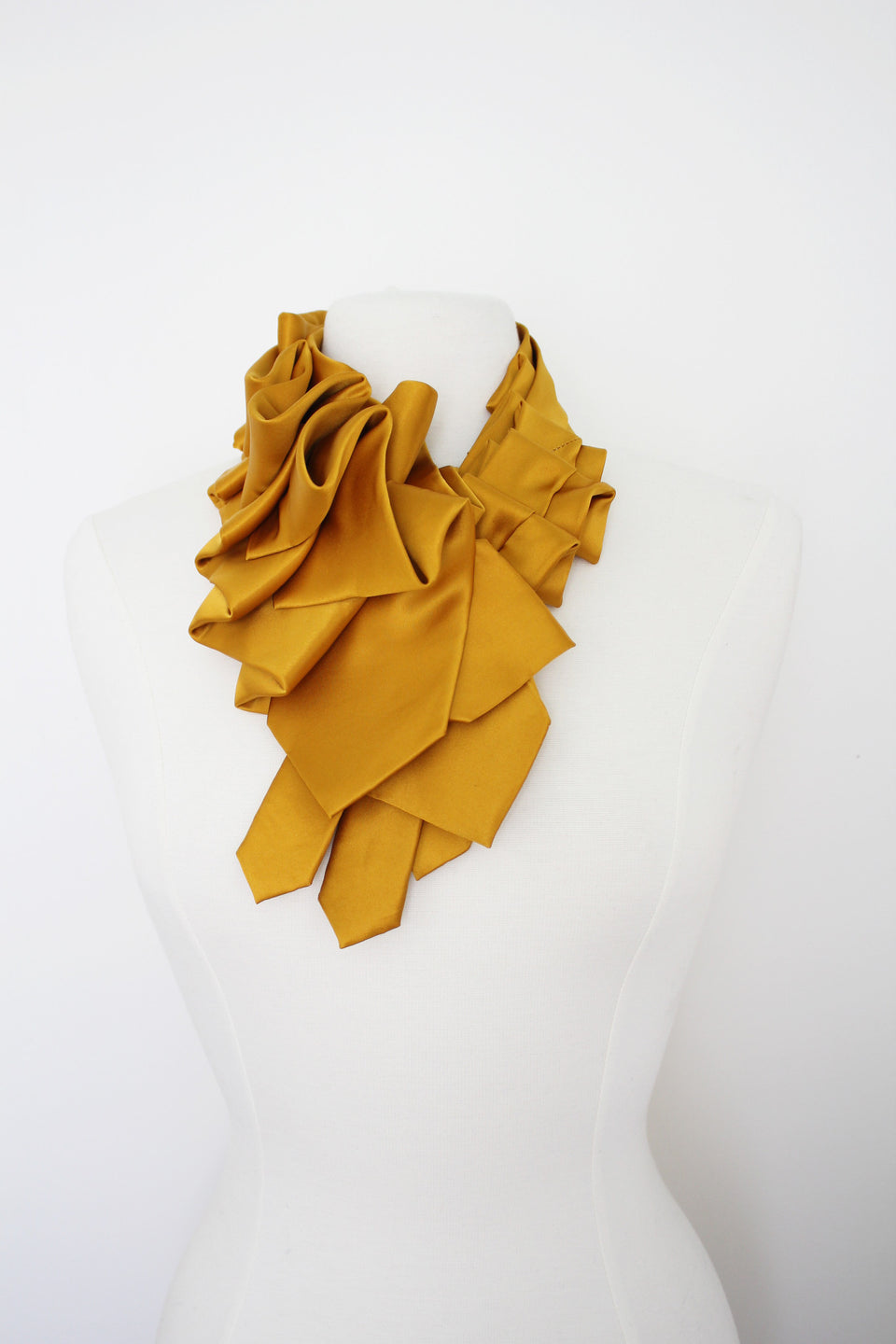 Lilian Asterfield Satin Triple Lapel - Gold