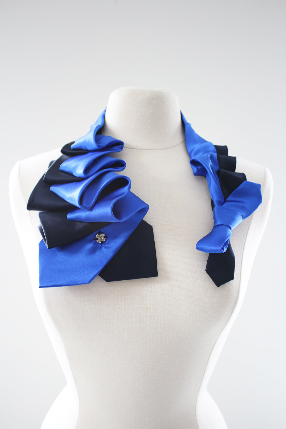 Lilian Asterfield Satin Aster - Navy and Royal Blue