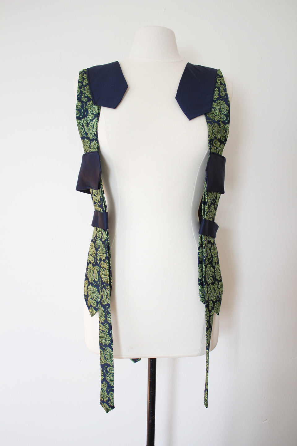 Lilian Asterfield Ooak Lime and Navy Vest