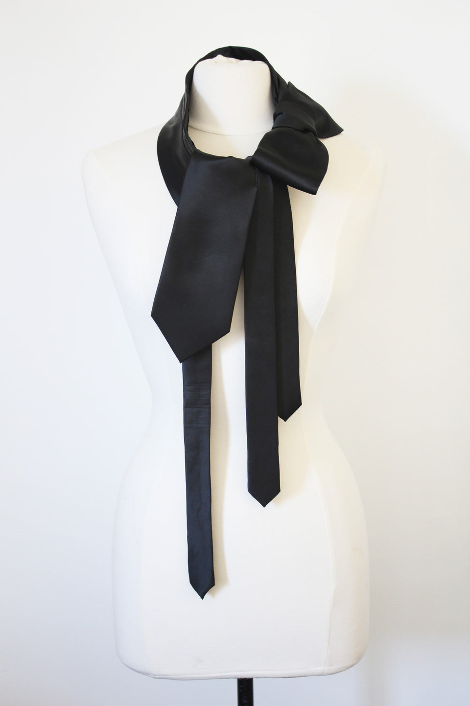 Satin Bow Wrap- Black
