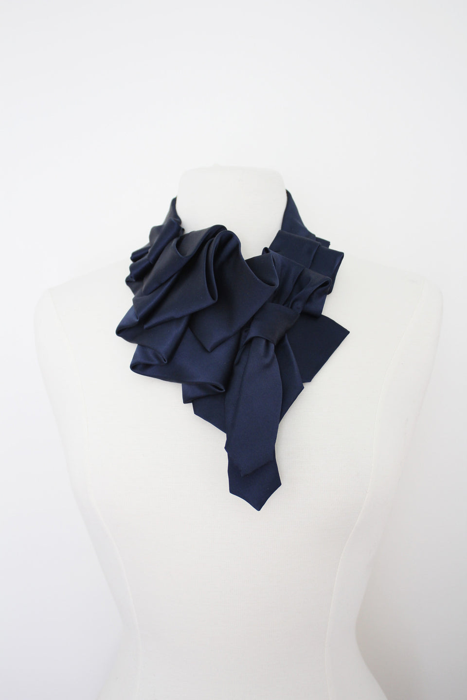 Satin Katherine in Navy