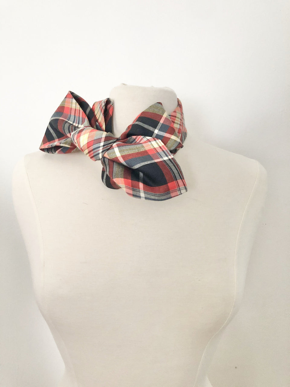 Plaid Flannel  Petite Birdie - red and navy