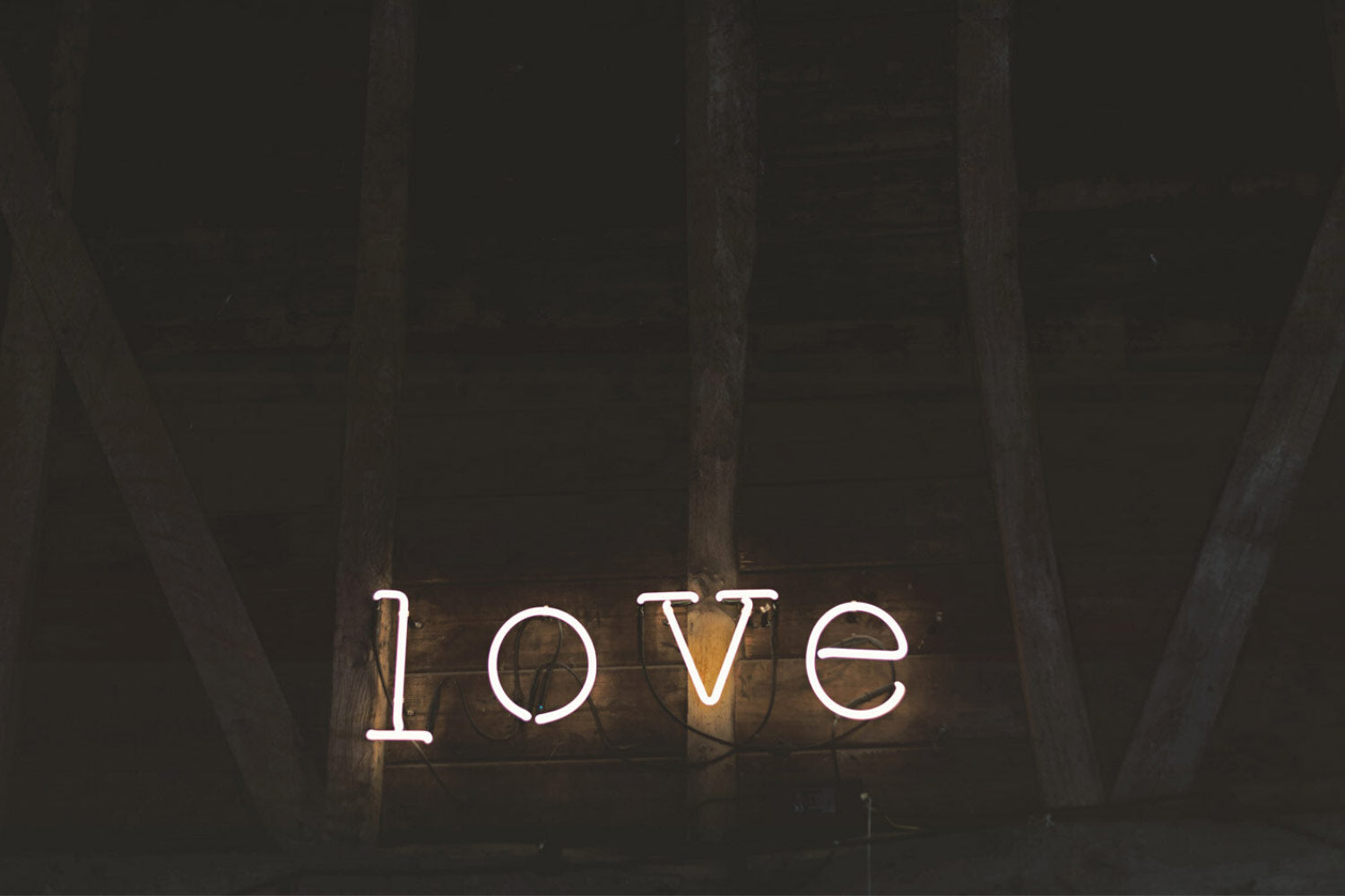 neon letters spelling out the word love
