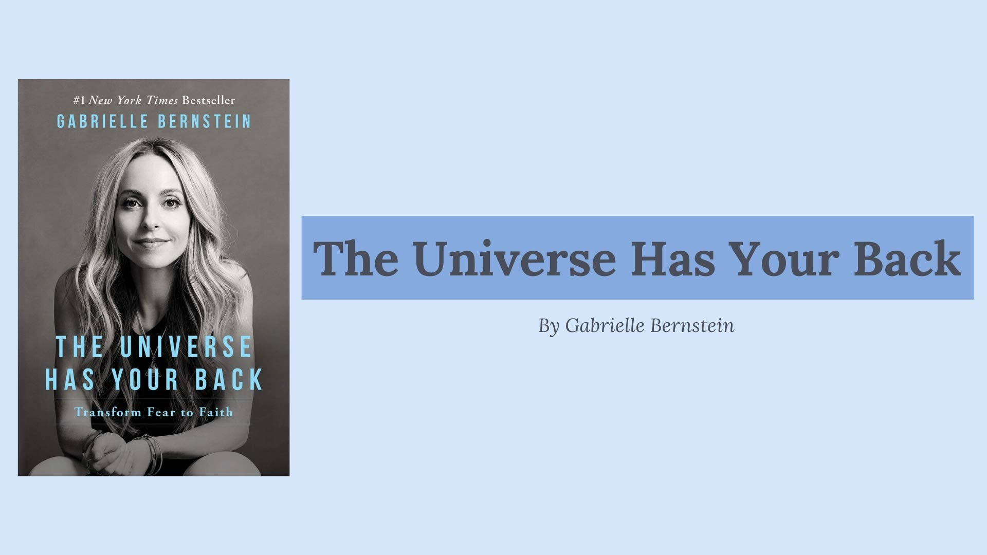 picture of the book the universe has your back by gabby bernstein
