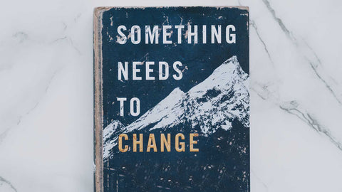 a cover of a book that says something needs to change for an article about what is life coaching