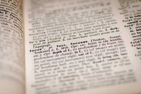 picture of the dictionary on the word focus