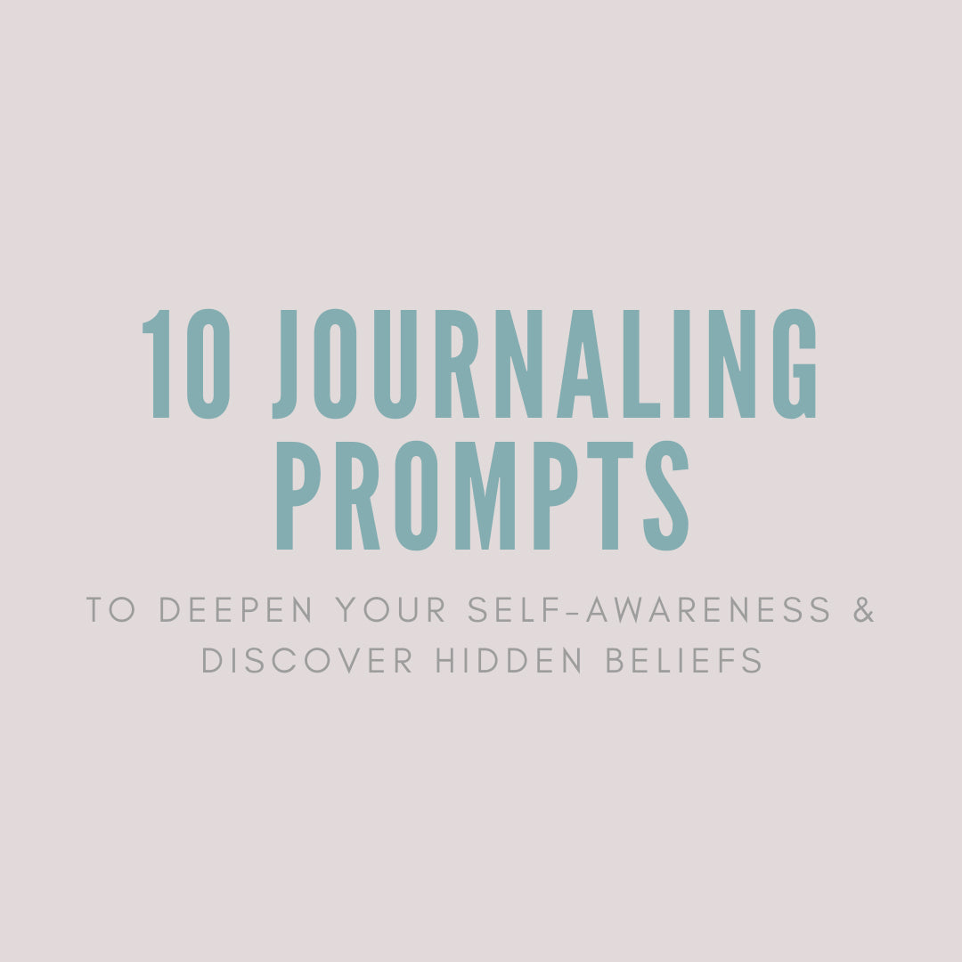 a picture that says 10 journaling prompts