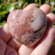 Load image into Gallery viewer, Rhodochrosite 45mm Puffed Heart