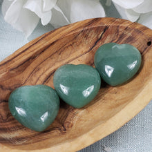 Load image into Gallery viewer, Green Aventurine 30mm Puffed Heart