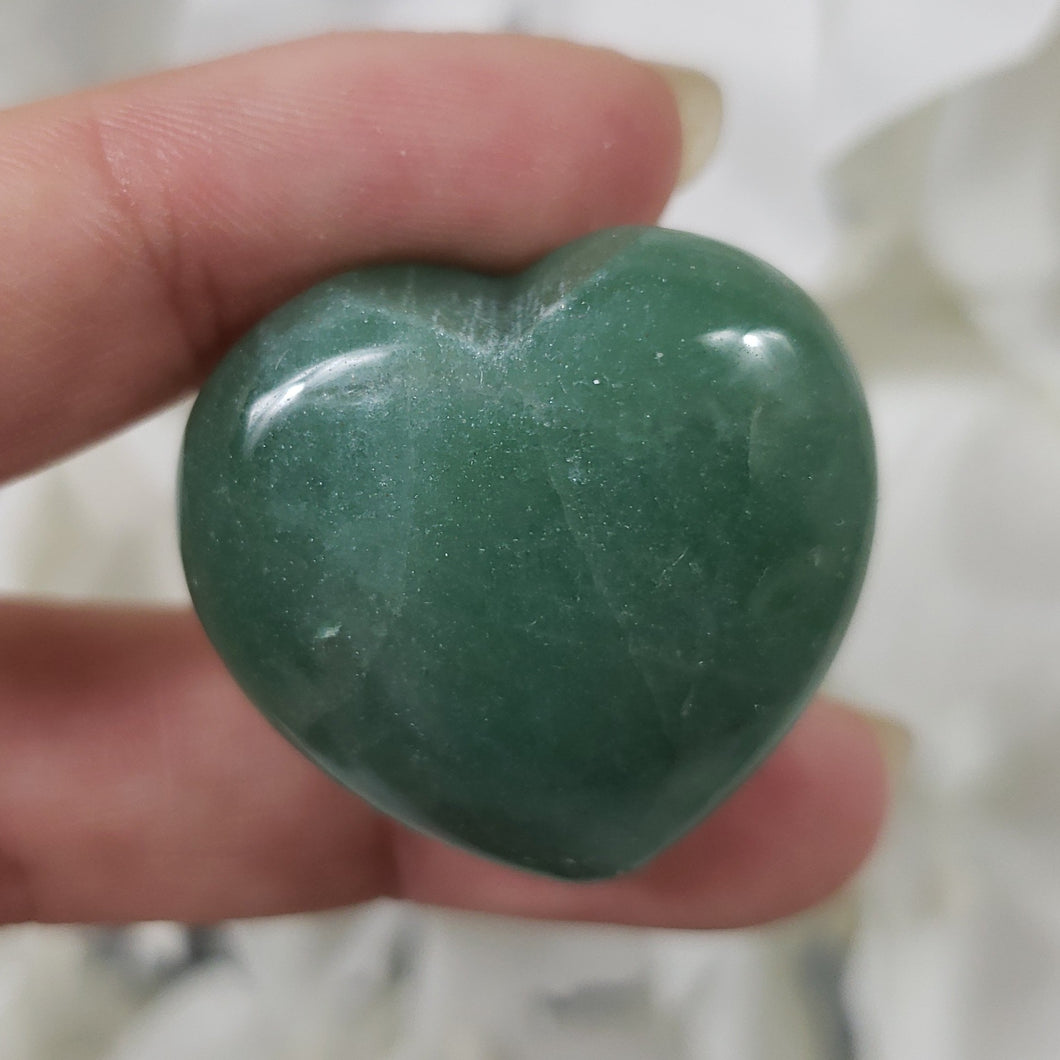 Green Aventurine 30mm Puffed Heart
