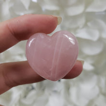 Load image into Gallery viewer, Rose Quartz 30mm Puffed Heart