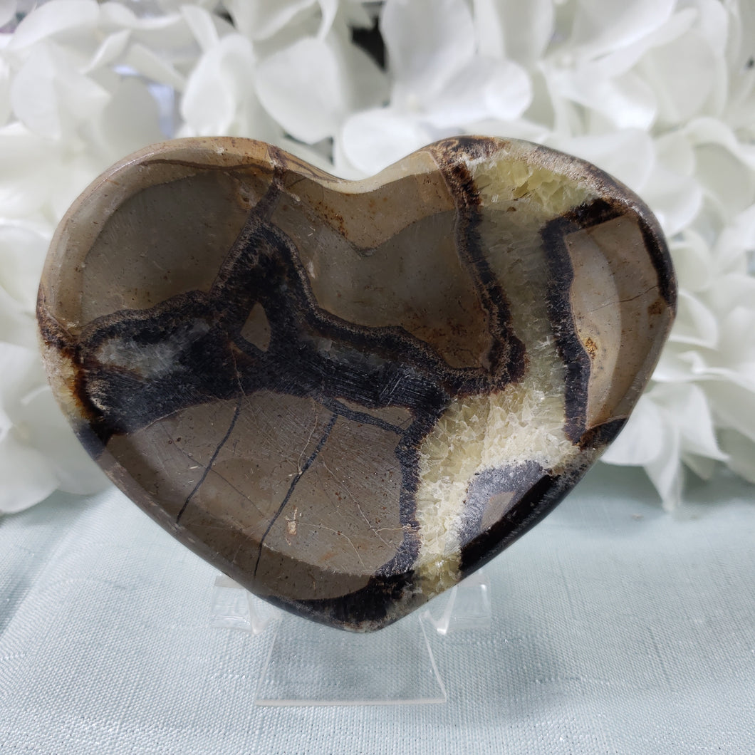 Septarian Heart Bowl #1 - minor flaw, priced accordingly