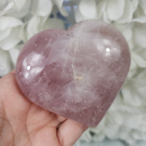Rose Quartz Crystal Heart 09