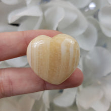Load image into Gallery viewer, Yellow Calcite 30mm Puffed Heart