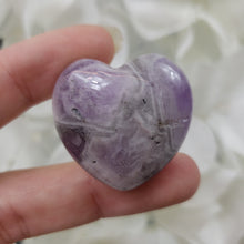 Load image into Gallery viewer, Amethyst 30mm Puffed Heart