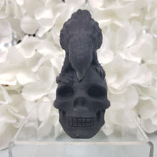 Load image into Gallery viewer, Black Obsidian Raven & Skull