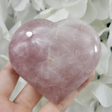 Load image into Gallery viewer, Rose Quartz Crystal Heart 09