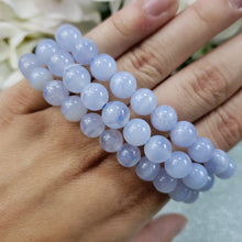 Load image into Gallery viewer, Blue Lace Agate 8mm Stretch Bracelet