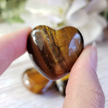 Load image into Gallery viewer, Tiger Eye 30mm Puffed Heart