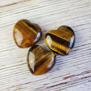 Tiger Eye 30mm Puffed Heart