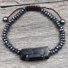 Load image into Gallery viewer, Black Tourmaline Adjustable Bracelet