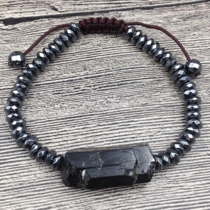 Black Tourmaline Adjustable Bracelet