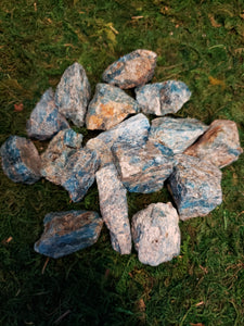 Blue Apatite Raw Stones, Large