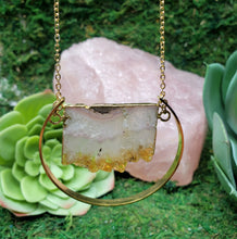 Load image into Gallery viewer, Citrine Stalactite Slice Boho, Healing Necklace
