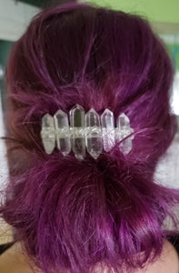 Clear Quartz Point French Barrette