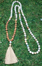 Load image into Gallery viewer, Amazonite and Rudraksha 108 Bead Mala