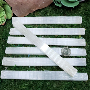 Selenite, Raw  7.5 - 8 inch Stick/Wand