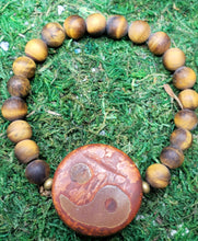 Load image into Gallery viewer, Tiger's Eye (8mm) & Tibetian DZI  Yin Yang Bracelet
