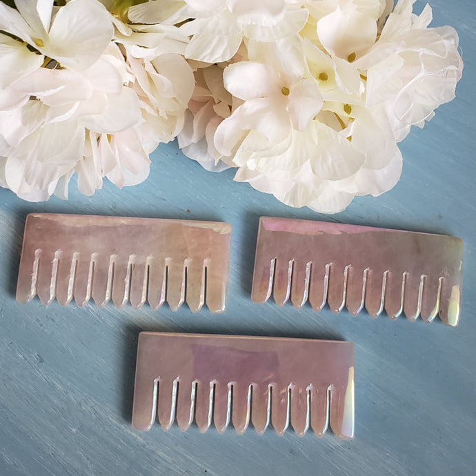 Aura Rose Quartz Scalp Comb