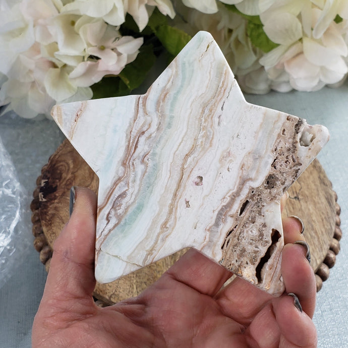 Caribbean Calcite - Star ,Large #1
