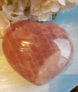 Rose Quartz Large Heart II