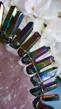 Load image into Gallery viewer, Titanium Quartz Point Metal Headband