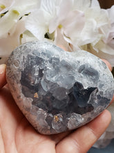 Load image into Gallery viewer, Celestite Heart Specimen, A