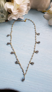 Labradorite Tear Drop Necklace