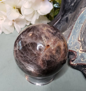 Black Moonstone Sphere - A