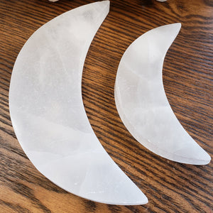 Selenite Crescent Moon Charging Plate