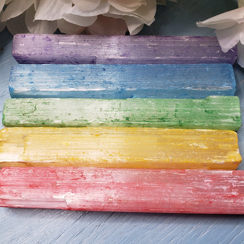 Rainbow Selenite - 5 inch Raw Sticks, sold seperately or as a group