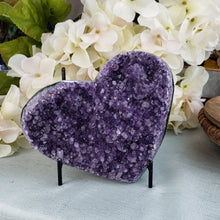 Load image into Gallery viewer, Amethyst Druzy  Heart - E