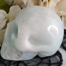 Load image into Gallery viewer, Blue Aragonite Large Skull