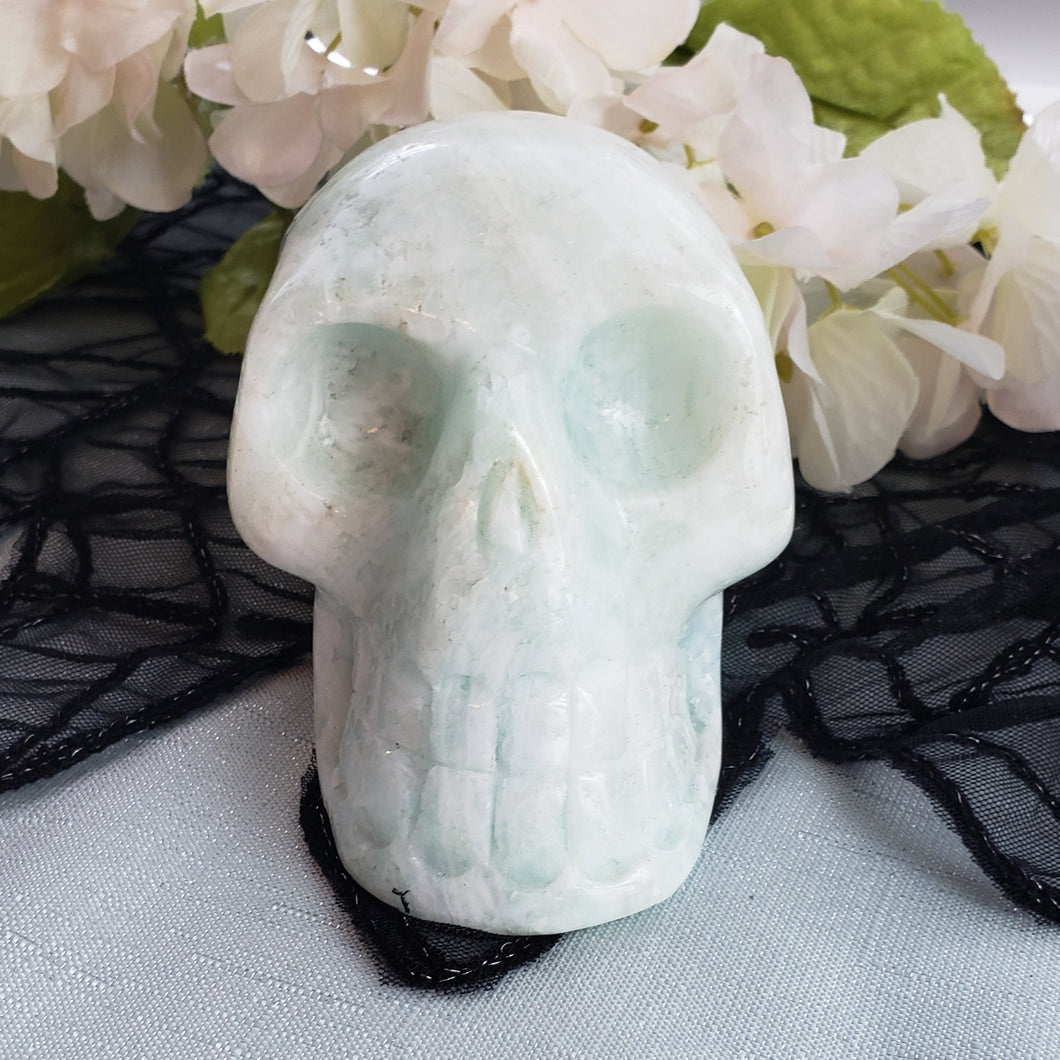 Blue Aragonite Large Skull