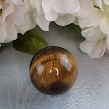 Load image into Gallery viewer, Tiger Eye Small Sphere 30mm