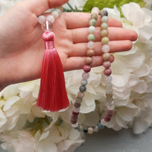 Load image into Gallery viewer, Amazonite and Rhodochrosite Mala