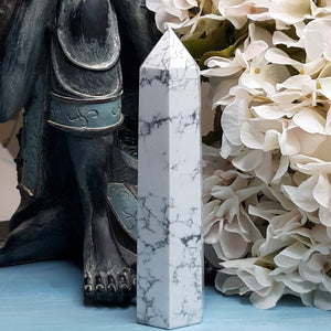 White Howlite Tower #1
